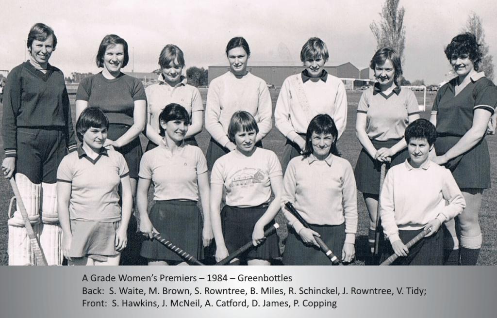 1984 Women Premiers Greenbottles
